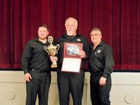 Second place winner and Team Spirit Award winners Bare Bones Racing team (Bob Maulick, Wes Maulick and crew)